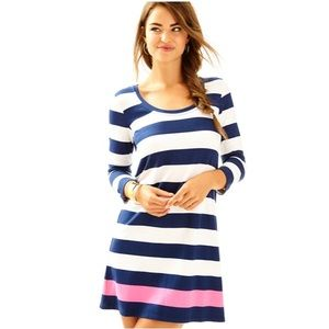 NWT Lilly Pulitzer Devon Dress - Aquatic Stripe